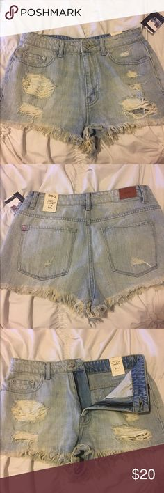BDG super high rise cheeky denim shorts Never worn with tags on. Super cute and will go fast! Urban Outfitters Shorts Jean Shorts