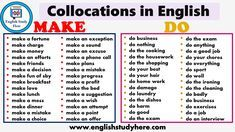 Collocations in English MAKE and DO in English How To Make Bed, How To Make Money, Make A Choice, Simple Rangoli, English Study, How To Make Breakfast, Make An Effort, Make A Wish, Decision Making