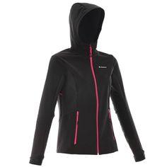 Deportes de Montaña Deportes de Montaña - cortavientos softshell 500 mujer negro…