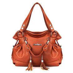 Women Retro Tassel Bags Ladies Casual Shoulder Bags Plaid Shopping Totes //Price: $59.48 & FREE Shipping //     #women watch  #Legging  #Jewelry  #Dresses  #Ring  #Yoga Pants