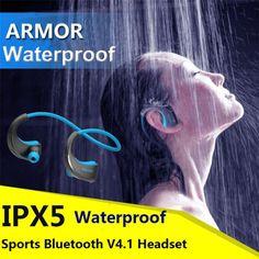 DACOM Armor G06  Bluetooth V4.1 Earphone IPX5 Waterproof Sports Headset Wireless Anti-sweat Ear-hook Running Headphone with Mic