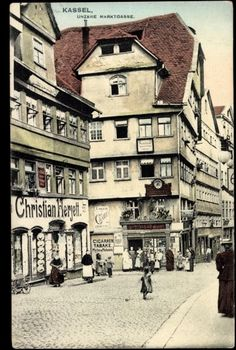 The Marktgasse in Cassel where the Grimm brothers first lived