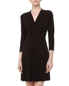 Catherine Catherine Malandrino Chelsea Empire Knit Dress, Black