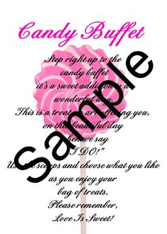 made our candy bar sign :  wedding Candy Bar Sign Sample   Page 001