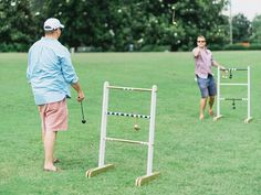 This DIY ladder toss game is easy to make and fun to play during and event or reception! Read the full instructions from Mandy of Waiting on Martha: http://thd.co/1rfmkEA #StyleChallenge