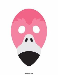 Flamingo mask templates including a coloring page version of the mask. Free printable PDF at http://maskspot.com/download/flamingo-mask/