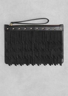 Pin for Later: & Other Stories Just Launched — and Our Virtual Cart Is Totally Full & Other Stories Fringe Clutch Fringe Leather Clutch ($85)