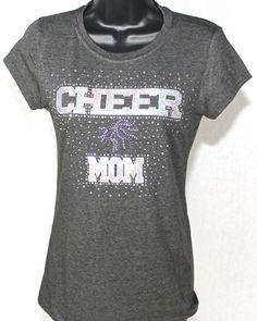 f5177a54cc4 Cheer Mom Sequins and Rhinestone Bling Tshirt by TheTeeShirtMakers