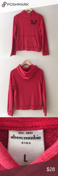 Abercrombie Kids BOYS Red Hoodie Size Large Classic Super soft red Pullover red by Abercrombie Kids. Size Large. Great condition. abercrombie kids Shirts & Tops Sweatshirts & Hoodies