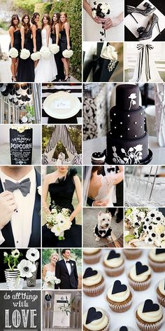 Black and White Weddings: The combination of the two colours is absolutely stunning and most definitely add a classic feel to the wedding!