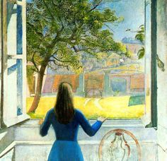 Balthus, Young Girl at the Window, 1957