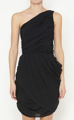 Love this LBD. Draping creates a flattering silhouette