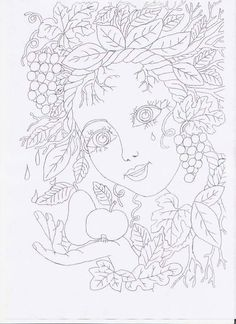 Doodle Coloring, Free Coloring, Coloring Book Pages, Coloring Pages For Kids, Spring Projects, Sharpie Art, Autumn Painting, Quilling Patterns, Autumn Crafts