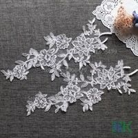 Wholesale 10PC New design wedding dress applique DIY bridal headdress lace collar lace fabric patch SK#1091