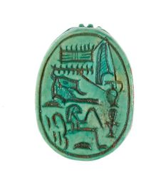 Scarab inscribed 'Hatshepsut, United with Amun', New Kingdom period, Dynasty 18, joint reign of Hatshepsut and Thutmose III (ca. 1473-1458 BC), Egypt