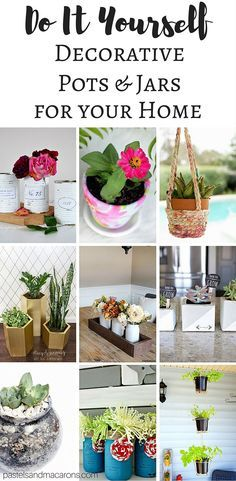 18 creative diy planter ideas planters plants and gardens beautiful do it yourself diy plant pots and decorative jars for your home view a solutioingenieria Image collections