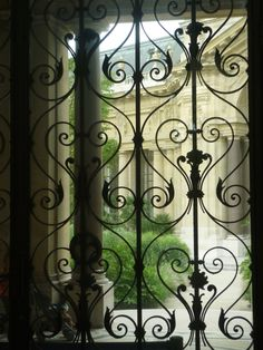 Petit Palais Gallery - Paris. Ornate ironwork and decorative details