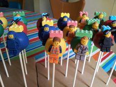 Lego Cake Pops. Lego Movie Cake Pops (Emmet, Wyldstyle, President Business, Benny) #cakepopsbyjensqrd Themed Birthday Cakes, Lego Birthday, 11th Birthday, Boy Birthday Parties, Birthday Ideas, Lego Movie Cake, Lego Movie Party, Lego Cake Pops, Legos