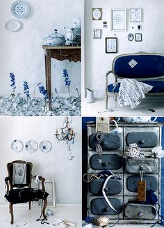 You'd think we'd have more plates on the walls... delfts blauw / delftware