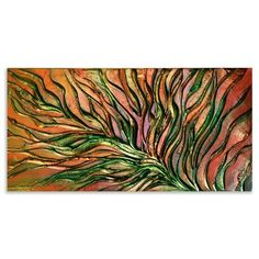 ACHICA | Victoria Stothard - Dark Iris VI, Mixed Media on Canvas, 100x50cm