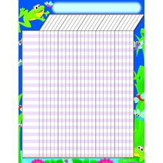 INCENTIVE CHART FROGS 17 X 22