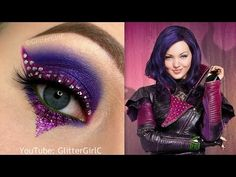 Hi darlings! <3 This look is inspired by Mal from the Disney movie Descendants. I hope you like it! :D Tutorial: Products used: Urban Decay – Primer Potion ( Viseart – 08 Editorial palette…