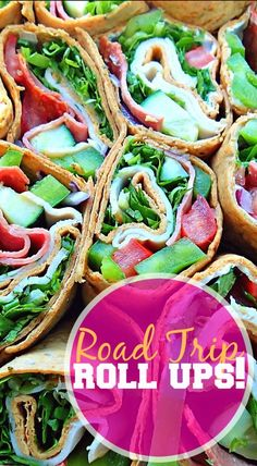 Road Trip Roll Ups: Garlic Cream Cheese, Turkey, & Veggies!