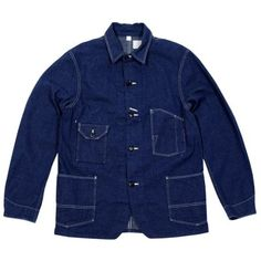 J.S. Homestead 30s Old Coverall Jacket (Navy Nepped Denim)