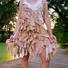 Tattered Layered Ruffled Mini Dress