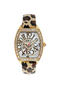 Betsey Johnson Swirl Dial Watch, 37mm available at #Nordstrom