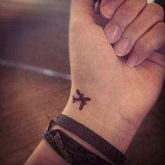 small airplane wrist tattoo- I want it. As a dear friend pointed out, it's not just an airplane tattoo for my days as a flight attendant, it's means so much more.