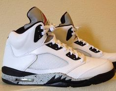 "Air Jordan 5 ""White Cement"" Custom"