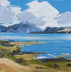 Sound of Mull, 30x30cm - MATTHEW SNOWDEN - What a great Artist,,, I like the way he lays the paint on very heavy, giving the painting an almost 3D look.  VanGough  also did the same, I was amazed when I seen his work in person for the first time.  I hope everyone could do the same if they have never viewed an original.  It really changed the way I view paintings now,,,, :-)