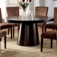 WOODEN ROUND game table | Furniture of America CM3849T - Havana Round Dining Table Dining Tables