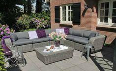 Tuinmeubelen #wicker #rotan #loungeset #lounge #loungebank #tuinset #tuinmeubel #Fonteyn