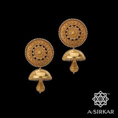 Gold Jewelry Design In India Gold Jhumka Earrings, Gold Earrings Designs, Gold Necklace, Necklace Designs, 18k Gold Jewelry, Gold Jewellery Design, Jewelery, Jewellery Diy, Wedding Jewelry
