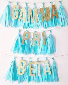love tassels for Bid Day Delta Phi Epsilon, Alpha Omicron Pi, Kappa Kappa Gamma, Zeta Tau Alpha, Pi Beta Phi, Alpha Chi Omega, Phi Mu, Delta Zeta, Tri Delta