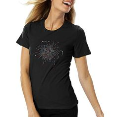This Amy Alder Womens 4th of July Fireworks American T-shirt is perfect for a 4th of July picnic, or just for your standard summer wear. Find more cute shirts at GuyGifter.com