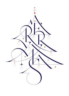 ✍ Sensual Calligraphy Scripts ✍ initials, typography styles and calligraphic art - Wish you a merry Christmas! by Áron Jancsó