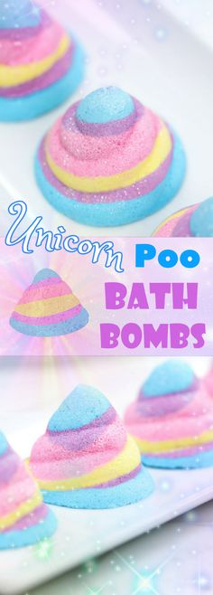DIY Unicorn Poo Bath Bombs