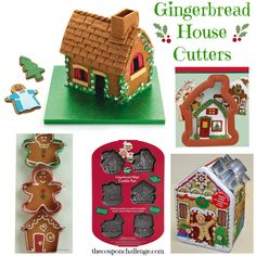 Get those gingerbread forms ready for your Gingerbread House with these fun cutters.  It's almost time for the kiddos to get crafty and create a holiday centerpiece.