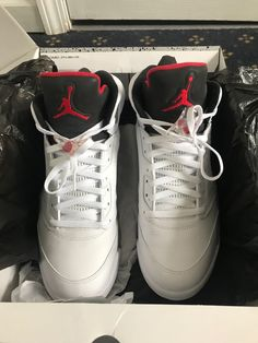 7f87d344ea mens shoes slightly used jordans white red and black  fashion  clothing   shoes