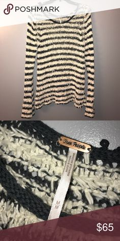Free People Long Sleeve Knit Striped Sweater Like New Free People Women's Size Medium Long Sleeve Striped Knit Sweater.                        ❗️-Bundle my items to save on shipping and I'll also give you a deal! ❗️-All items ship next-day! ❗️-All items are in perfect condition unless stated otherwise! ❗️-I accept reasonable offers! ❗️-Check out my other listings to see what you can bundle! Free People Sweaters Crew & Scoop Necks