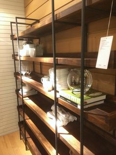 shelves in pantry? no skirting with tile wall looks better too