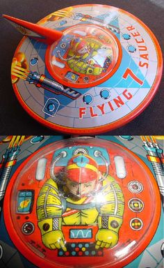 UFO Space ship tin toy