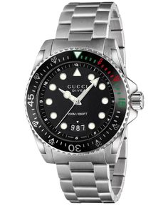 a04aac76240 Gucci Men s Swiss Dive Stainless Steel Bracelet Watch 45mm YA136208 Gucci  Watches For Men