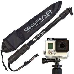 Selfie Stick for GoPro - Waterproof Telescoping Extension Pole for Hero 4 / / 3 / 2 / 1 Cameras - Aluminum Tripod Mount & Thumb Screw - Monopod Extends - - Nylon Carry Bag - Lifetime Guarantee Gopro Accessories, Photo Accessories, Gopro Pole, Gopro Camera, Camera Gear, Plus 8, Selfie Stick, Gopro Hero, Gopro Kamera