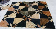 mmm quilts: Hunter Star variation.  Love this layout, but checkout the other variation also.  Google free pattern