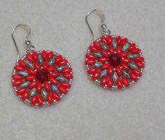 Super Duo & Crystal Flower Earrings Tuto | Craftsy