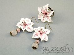 jewelry set with lilies by polyflowers.deviantart.com on @deviantART